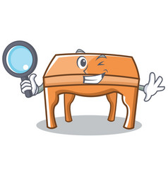 Detective table character cartoon style vector