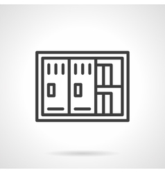Documents safe black line icon vector image