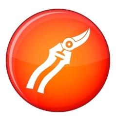 Garden shears icon flat style vector