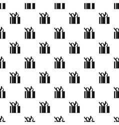 Gift box pattern simple style vector