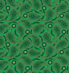Green paisley seamless pattern vector