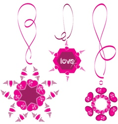 heart necklace vector image vector image