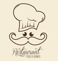 Kawaii restaurant sign vector