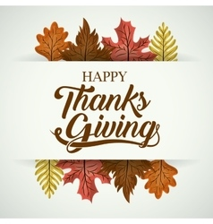 Leaves of Thanks given design vector image