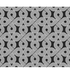Loops seamless pattern repeating symmetry vector