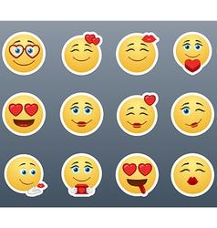 Lovers smilies vector
