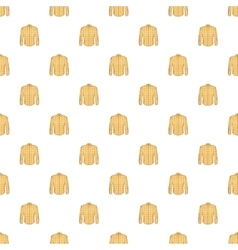 Men shirt pattern cartoon style vector image vector image
