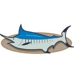 Mounted Marlin vector image vector image