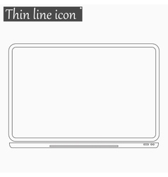 notebook Computer icon Style thin line vector image