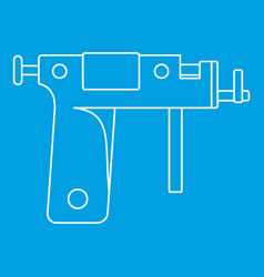 Piercing gun icon outline vector