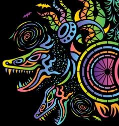 psychedelic flyer illustration vector image