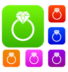 ring lgbt set collection vector image
