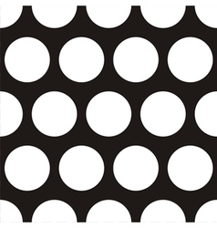 Seamless dark pattern with big white polka dots vector image