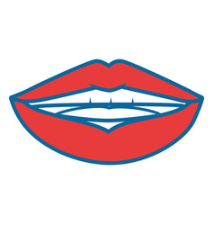Sensual lips icon vector