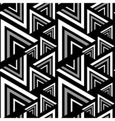 Triangle black white seamless pattern vector image vector image