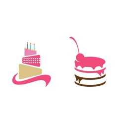 Wedding cake isolated on background vector