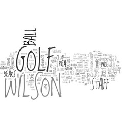 Wilson golf text word cloud concept vector