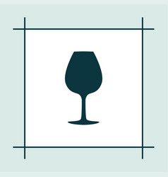 wine glass icon party vector image vector image