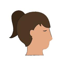 woman head silhouette vector image vector image