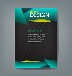 Cover report design template origami modern style vector