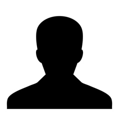 Human man user profile avatar glyph vector