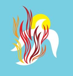 Holyspirit fire vector