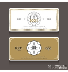 Gift certificate voucher coupon vector