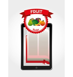Fruit recipe book vector