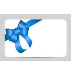 Blue gift ribbon vector