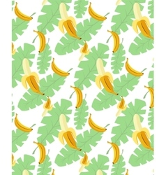 Bananas pattern transparent background vector