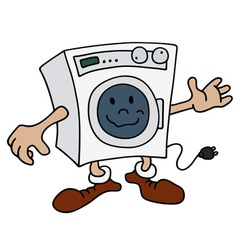 Funny washing machine vector