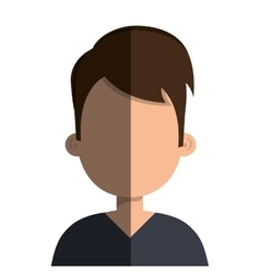 Young male profile vector