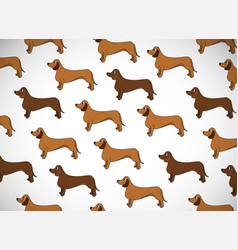 Awesome greeting horizontal card with dogs breed vector