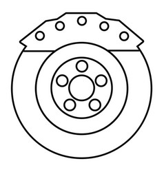 Brake shoe icon outline style vector