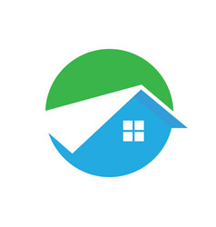 circle home roof building logo image vector image vector image