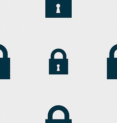 closed lock icon sign Seamless pattern with vector image