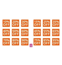 Discount square set vector image