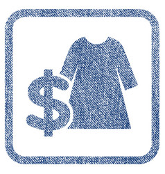Dress price fabric textured icon vector