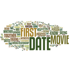 First dates skip the movie and popcorn text vector