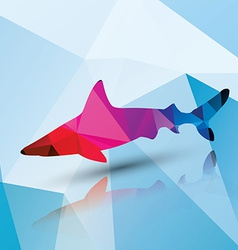 Geometric polygonal shark pattern design vector