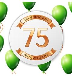 Golden number seventy five years anniversary vector