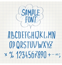 Hand font alphabet sketch vector