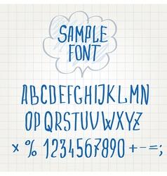 hand font Alphabet sketch vector image