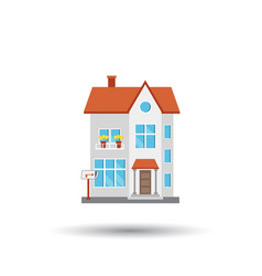 House in flat style on white background vector