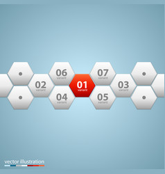Infographic design with hexagons vector