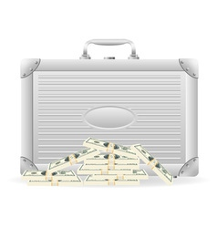 metallic briefcase 02 vector image