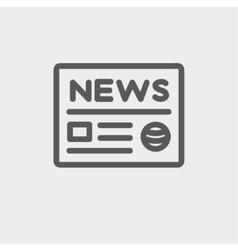 Newspaper thin line icon vector