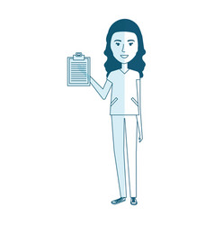 Nurse professional woman of health with order vector