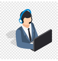 online consultant isometric icon vector image vector image