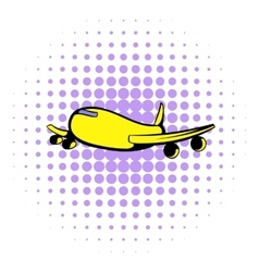 Passenger airliner icon comics style vector image